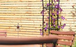 gartenbau holz zaun wand sicht lärm